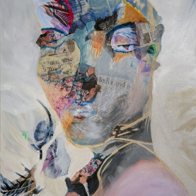 Fearless Woman - Mixed Media on Canvas - 30 x 40 inches-1500p